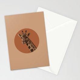 Round Giraffe Stationery Cards