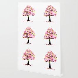 Summer Hearts Tree Wallpaper