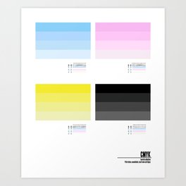 Low ink collection Art Print