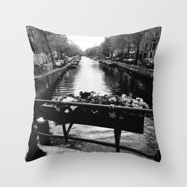 Serenity in Amsterdam Throw Pillow