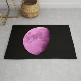 4K Dark Side of the Moon Fuchsia Rug