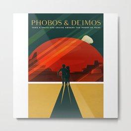 Phobos Deimos Metal Print