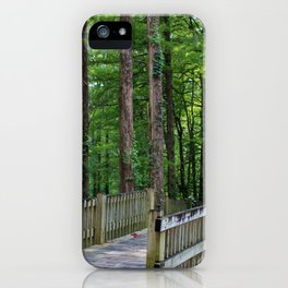 A Walk Over The Lake iPhone Case