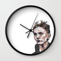 depeche mode Wall Clocks featuring Mode by Meredith Mackworth-Praed
