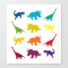 Dino Parade Canvas Print