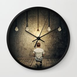 glowing lightbulb Wall Clock