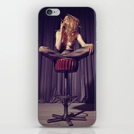 relaxed on the bar stool - Naked women iPhone Skin
