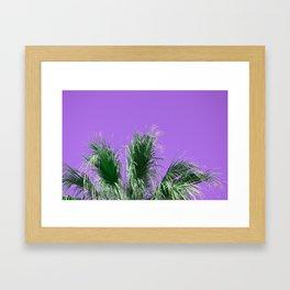 Palms on Purple Framed Art Print