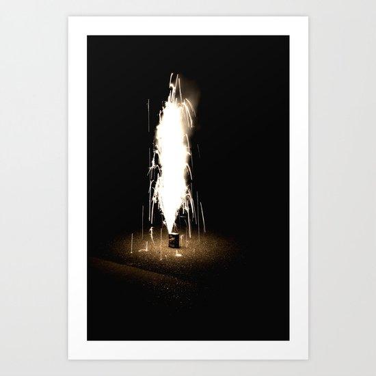 Lone Firework Art Print