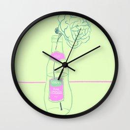 Rose and Pink Lemonade Wall Clock