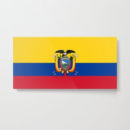 Flag of Ecuador -ecuadorian,Inca,Kichwa,Quito,america, South america,Spanish,Amazonia,latin america Metal Print