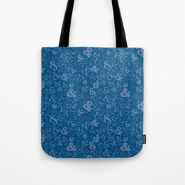 Ampersands - Blue Tote Bag