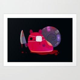 super cute snail Art Print