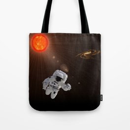 Astronaut And Sun Tote Bag