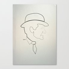 One Line Avengers: John Steed Canvas Print