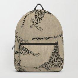 tan leopard pattern Backpack