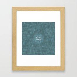 BonIver Framed Art Print