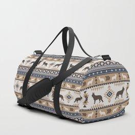 Boho dogs | German shepherd pattern tan Duffle Bag