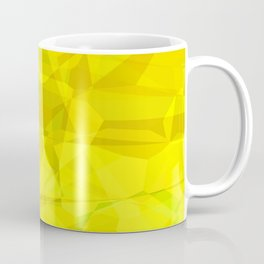 Pale Yellow Poinsettia 1 Abstract Polygons 3 Coffee Mug