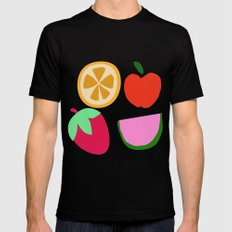 Fruit Salad Black MEDIUM Mens Fitted Tee