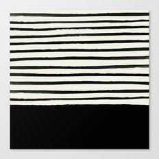 Black x Stripes Canvas Print