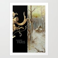 THE DISCREET PARIS The house in the snow of the parisian baker Art Print