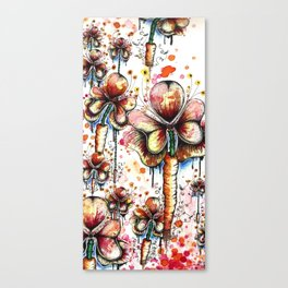 Carrot Flowers Canvas Print