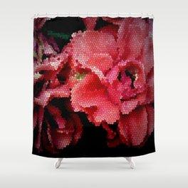 Leadlight Roses Shower Curtain
