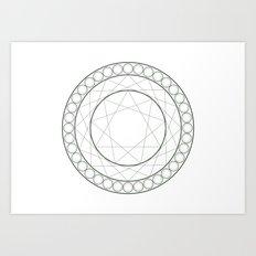 Anime Magic Circle 12 Art Print