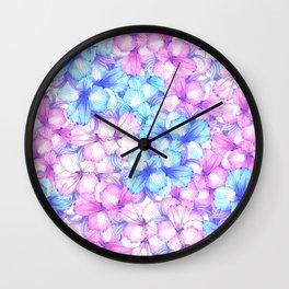 pastel flower Wall Clock
