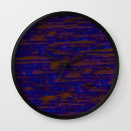 Lines ~ Abstract  Rust Wall Clock