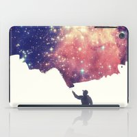 night iPad Cases featuring Painting the universe by badbugs_art