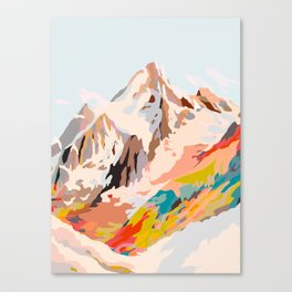 glass mountains Canvas Print