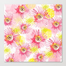 Floating Florals Canvas Print