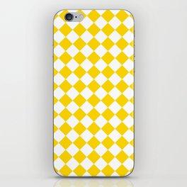 Diamonds - White and Gold Yellow iPhone Skin