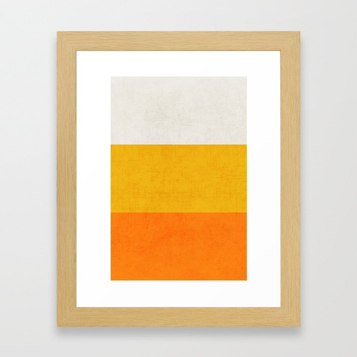 three stripes - candy corn Framed Art Print