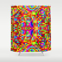 Colors in the bathrooms! ... Shower Curtain