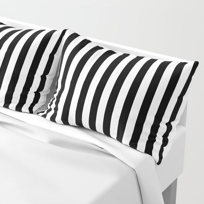 Stripe Black And White Vertical Line Bold Minimalism Stripes Lines Kissenbezug