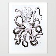 Inky Octopus Art Print