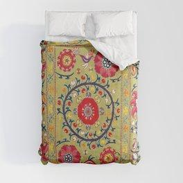 Lakai Suzani Uzbekistan Floral Embroidery Print Comforters