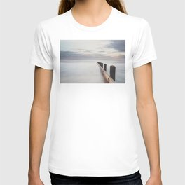the ocean ... at peace with itself, the tide coming in as the sun sets. T-shirt