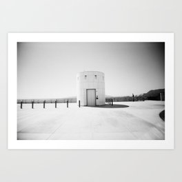 Little White Building Art Print