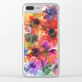 Sunflower Carnival Clear iPhone Case