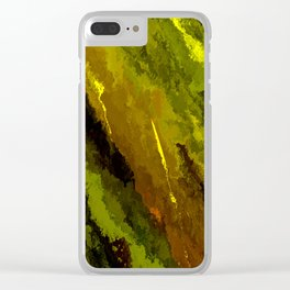 Camouflage Shooting Star Clear iPhone Case