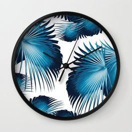 Fan Palm Leaves Paradise #11 #tropical #decor #art #society6 Wall Clock