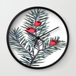 Christmas Branch Wall Clock