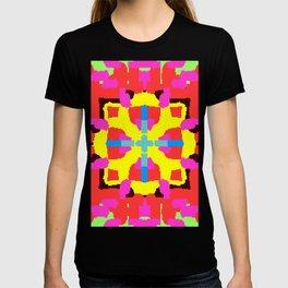 Key Lime Geometric Fuzzy Floral T-shirt