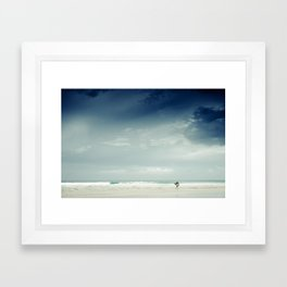 Storm Surfer Framed Art Print