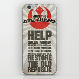 Join the Rebel Alliance iPhone Skin