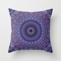 Mandala in plum tones Throw Pillow